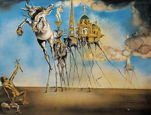 The Temptation of St. Anthony by Salvador Dalí. 1946
