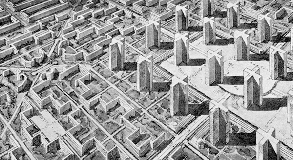 Radiant City by Le Corbusier