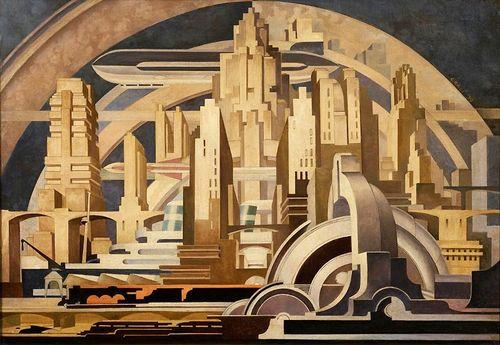 "Cityscape"" by Tullio Crali, 1939"