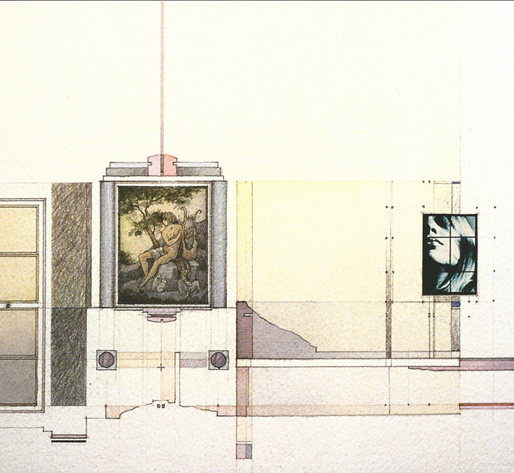 Window and Fragments: Remembered in Song and Image | watercolour, graphite, coloured pencil, photographic images, 1988