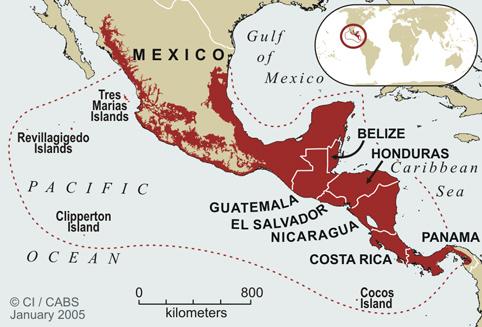 Mesoamerica map