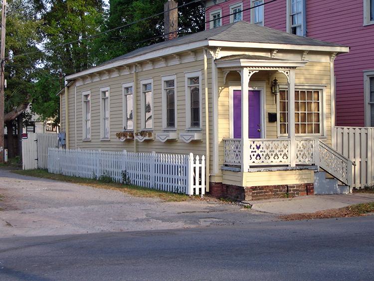 Shotgun house in Savannah