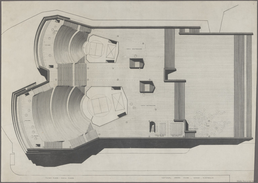 Third floor, main floor plan