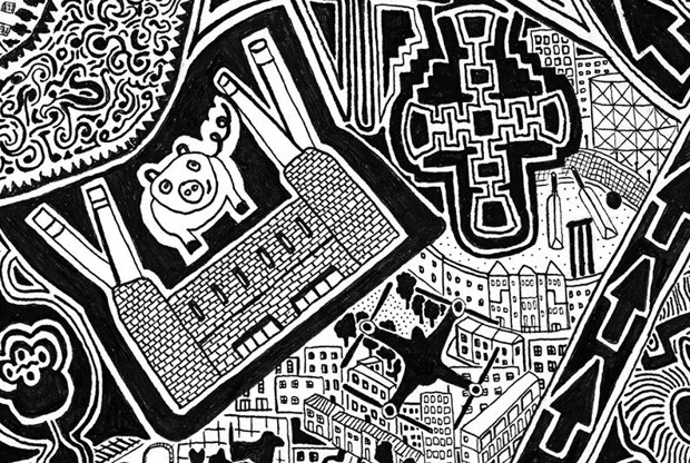 LONDON TOWN (detail)